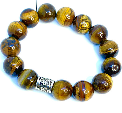 Tiger's Eye Bracelet w/Silver Accent