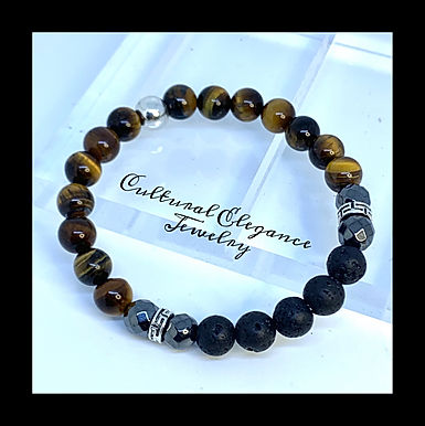 Tigers Eye and Lava Rock