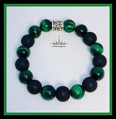 "Green Tiger's Eye ""Stressfree"" Bracelet"