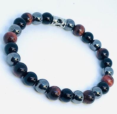 Tiger's Eye/Onyx/Hematite Bracelet