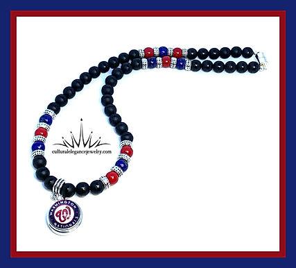 Washington Nationals Necklace & Bracelet Set (Special Order)