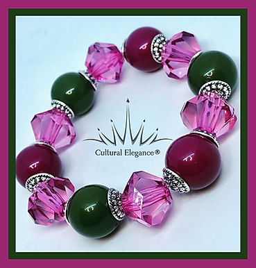 Chunky Pink n Green (AKA) Inspired Bracelet