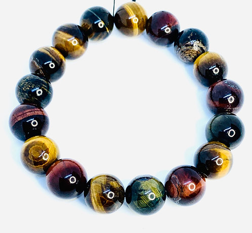 Multi-colored Tiger's Eye Bracelet