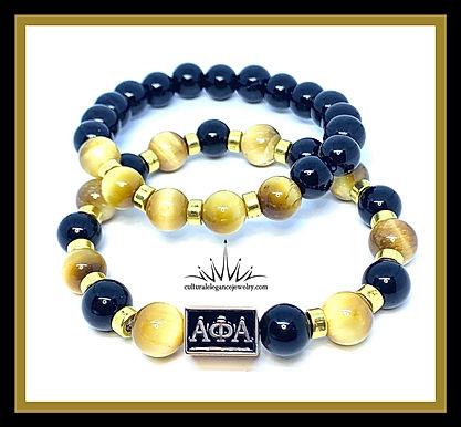 """Alpha Phi Alpha """"Inspired"""" Bracelet Set ( Gold)"""