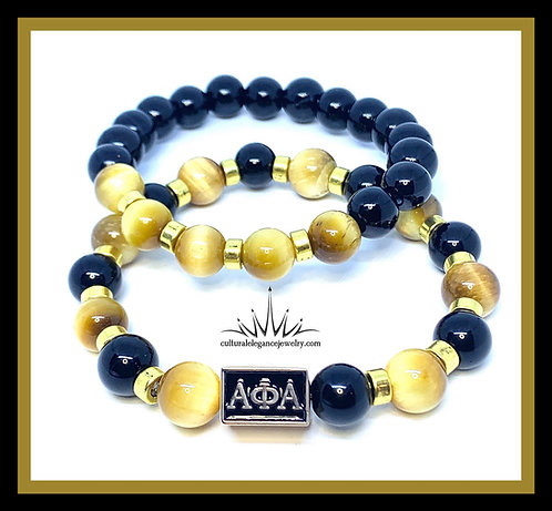 "Alpha Phi Alpha ""Inspired"" Bracelet Set ( Gold)"