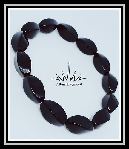 "Black Metal ""Twist"" Bracelet"
