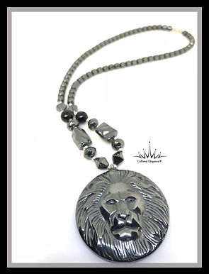 Lion Hematite Beaded Necklaces