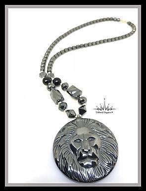Lion Hematite Beaded Necklaces