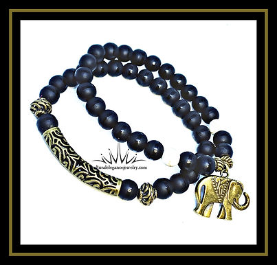 Onyx Safari Bracelet Set