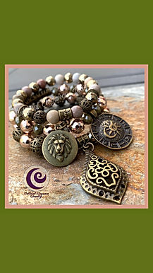 Moonstone and Hematite Lion/Zodiac/Teardrop Celtic