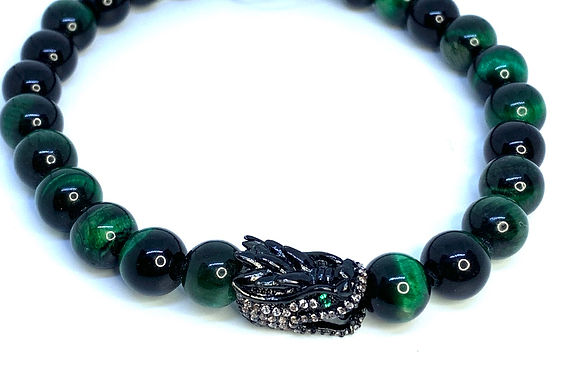 Green Tiger's Eye Dragon Bracelet