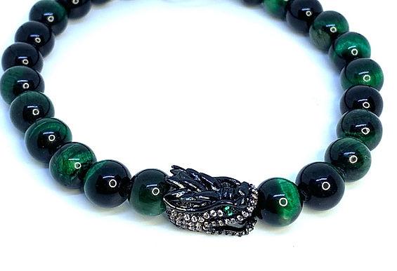 Green Tiger's Eye Dragon Bracelet