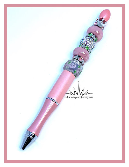 """Pink and Roses"" Boss Lady Pen"