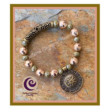 Rose Gold Hematite w/Zodiac Bronze