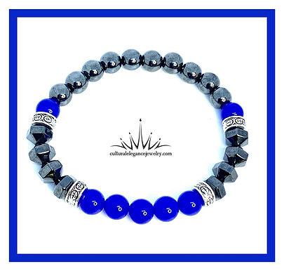 Blue Magnetic Hematite Bracelet