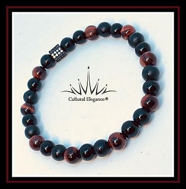 High Energy - Red Tiger's Eye/onyx Bracelet