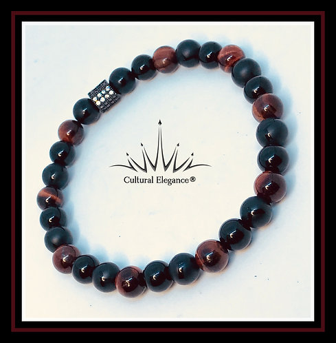 High Energy - Red Tiger's Eye/onyx Bracelet
