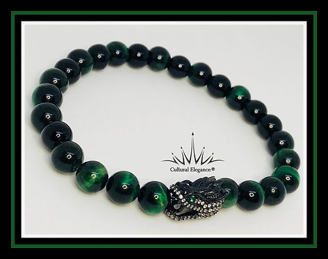 """Dragon Green """"Tiger's Eye"""" Bracelet"""