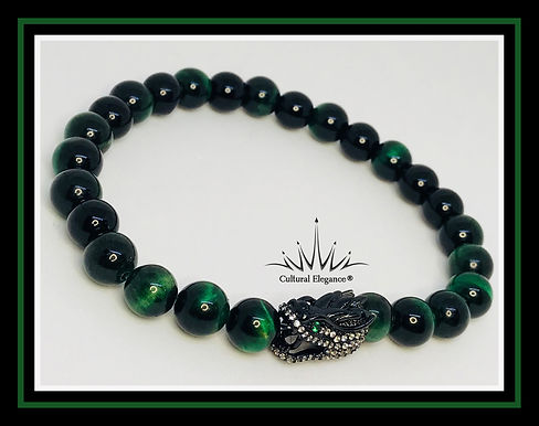 "Dragon Green ""Tiger's Eye"" Bracelet"
