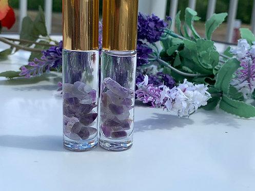 Calm Stress & Anxiety Amethyst Crystal Essential Oil Blend