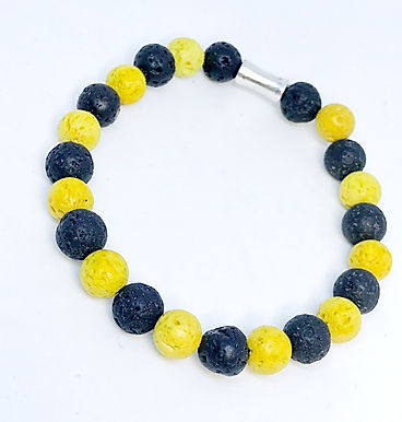 Yellow and Black Lava Rock