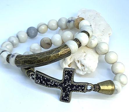 """African Opal """"Cross"""" Set"""