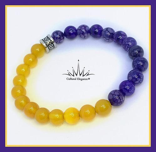 Citrine and Amethyst Bracelet
