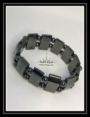 Hematite DoubleDecker Bracelet