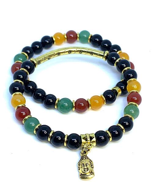 Buddha Mulitcolored Bracelet Set!