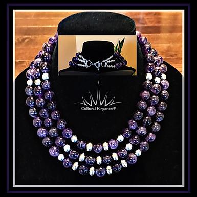 Natural Amethyst Gemstone Necklace! (Custom Order)