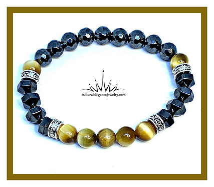 Honey Jade/Magnetic Hematite/Faceted Hematite
