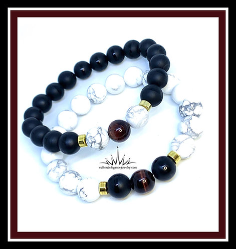 Contrasting Couples Bracelet Set