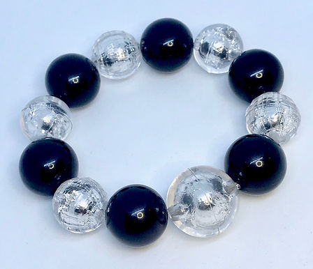 Black and Clear (Round) Fashion Bracelet