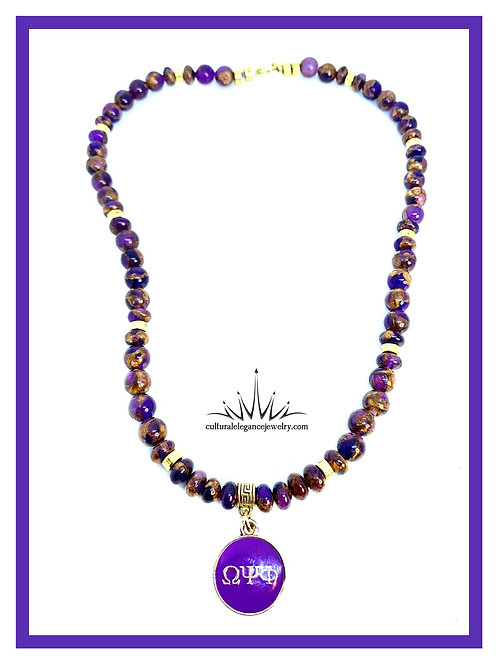 "Omega Psi Phi ""Inspired"" Necklace"