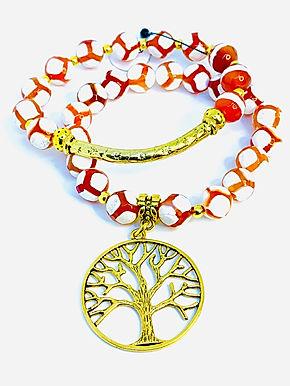 "Agate ""Tree of Life"" Bracelet Set"