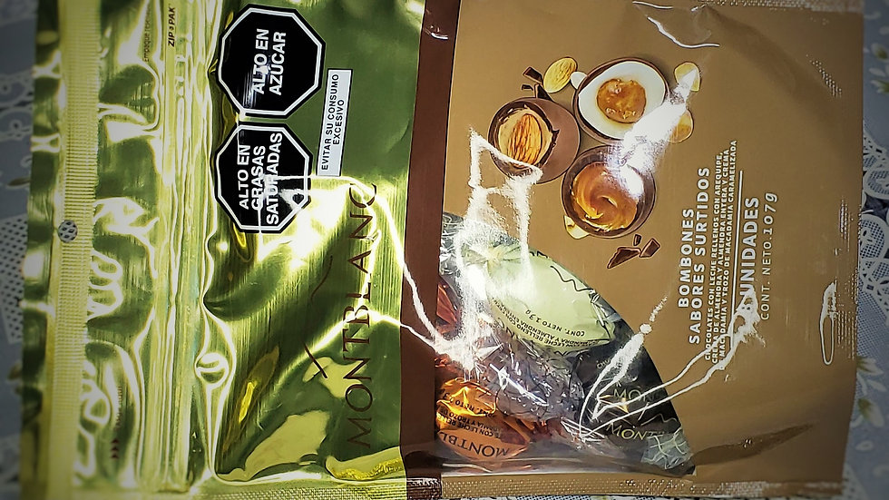 Bombones de Chocolate MONTBLANC Surtidos Doypack 8un