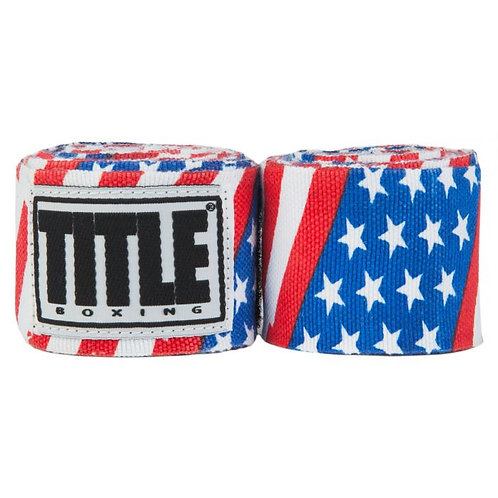 "TITLE Print Mexican Style 180"" Hand Wraps"