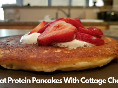 Wheat Protein Pancakes With Cottage Cheese