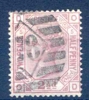 SG141 2 1/2d Rosy Mauve Plate 5 Fine Used