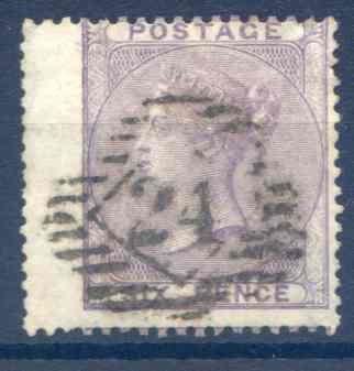 SG69 6d Deep Lilac Fine Used LH Wing Margin