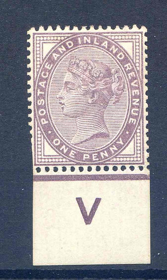 SG172 1d Lilac V Control Mounted Mint