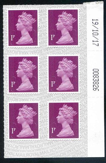 U2920 1p Deep Crimson M17L Unmounted Mint Corner Block 6