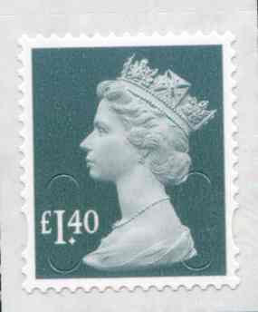 U2941 £1.40 Grey Green Unmounted Mint