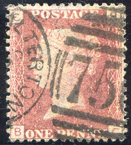 SG43 Plate 149 1d Red Fine Used Light CDS