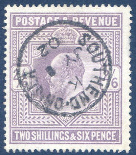 SG260 2/6 Lilac Very Fine Used Southend on Sea CDS