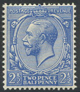 Spec N21 2 1/2d Bright Powder Blue Unmounted mint
