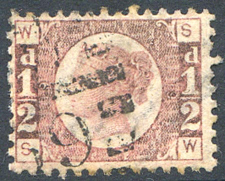 SG48 1/2d Rose Red Plate 19 Fine Used