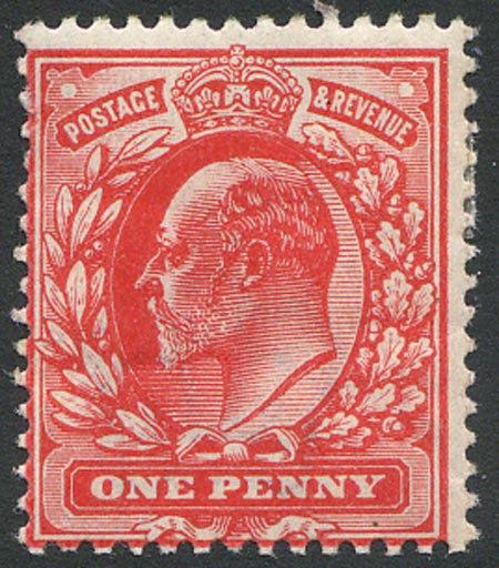 SG220VAr 1d Blood Red (Gum Bend) Unmounted Mint