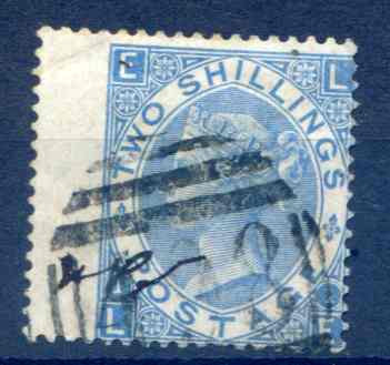 SG120 2/- Milky Blue Fine Used LH Wing Margin