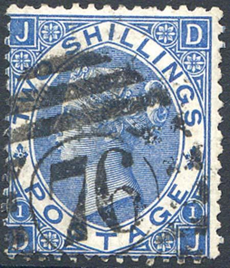SG119 2/- Deep Blue Fine Used
